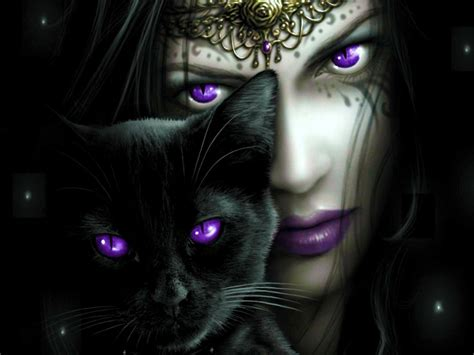 witches cat cat eye purple witches beautiful