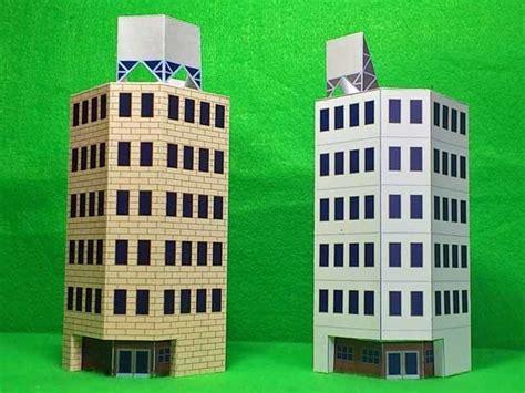 paper craft building building paper model papercraftsquare free papercraft