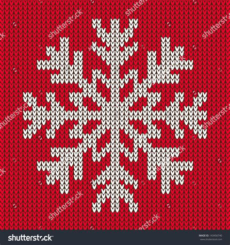 knit snowflake ornament pattern snowflake ornament on background stock