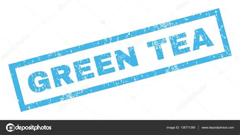 teacup rubber st groene thee rubberstempel stockvector 169 anastasyastocks