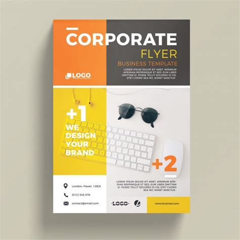flyer template free modern corporate business flyer template psd file free