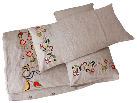 embroidered bedding sets comfybedlinen s innovative embroidered linen bedding for