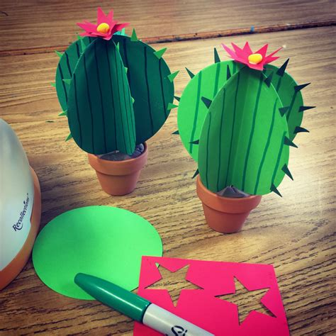 how to make arts and crafts for paper cactus projects for