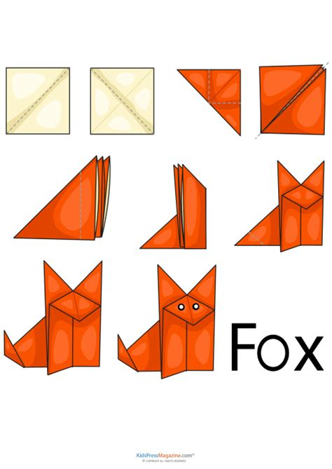cool easy origami animals the fox says you should increase your mental dexterity by