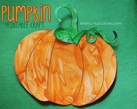 pumpkin crafts printable pumpkin craft