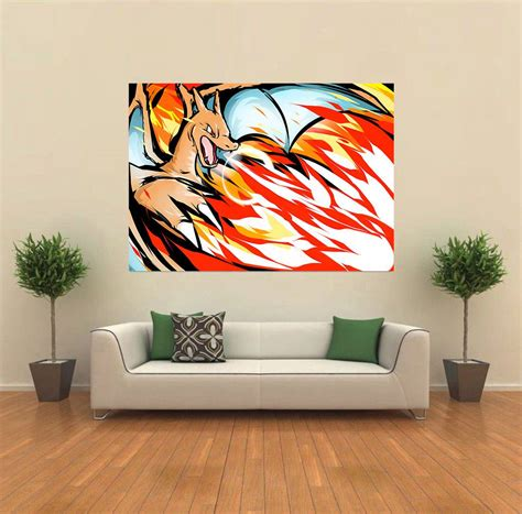 New Ideas For Home Decoration charizard pokemon andy warhol style pop giant wall poster