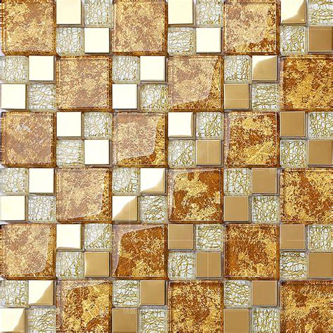 crystal glass mosaic plated tiles art design wall tile