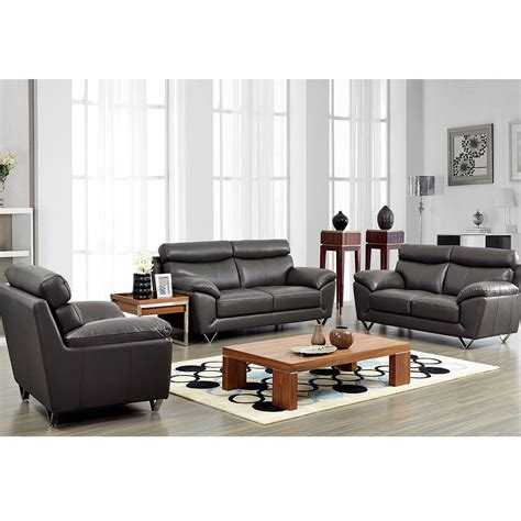 modern sofa living room 8049 modern leather living room sofa set by noci design