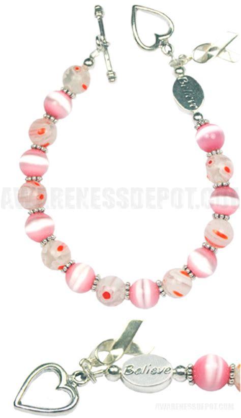 breast cancer awareness beaded bracelets i believe breast cancer awareness beaded bracelet