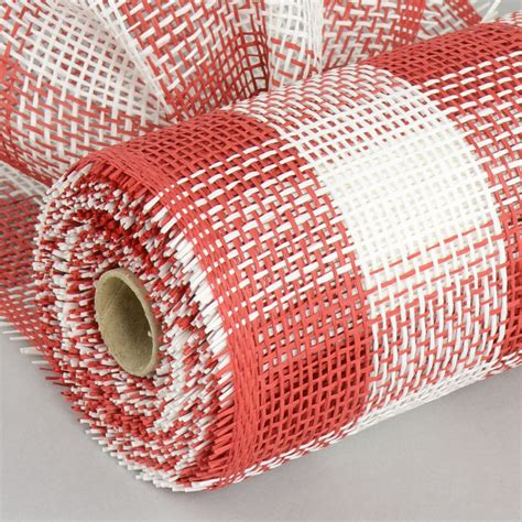 paper mesh craft 10 quot paper mesh roll white plaid 10 yards rr800234