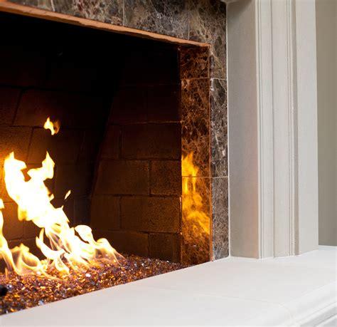 fireplace glass gas logs inserts and glass rock fireplace ideas