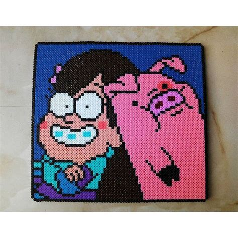 how to iron perler perfectly mabel and waddles gravity fall perler by helena