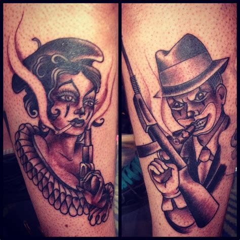 bonnie and clyde tattoos by dawn cooke tattoos by our