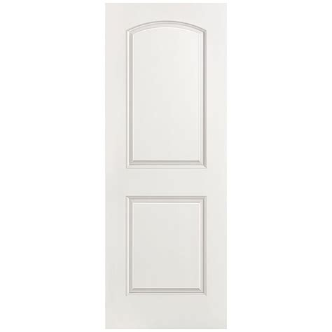 interior panel doors home depot masonite 28 in x 80 in smooth 2 panel top hollow primed composite single