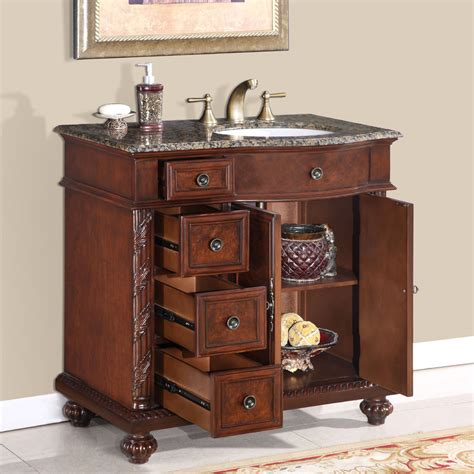 36 perfecta pa 139 bathroom vanity r single sink cabinet chestnut finish granite