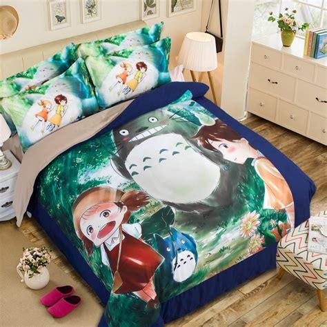 my totoro bed set studio ghibli my totoro 3d japanese anime