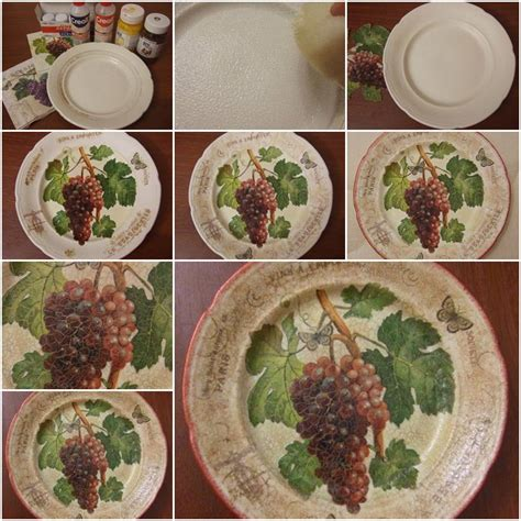 decoupage steps how to make plate decoupage step by step diy tutorial