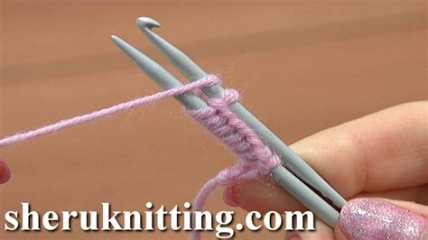 how to knit using crochet hook cast on with a knitting needle and a crochet hook tutorial
