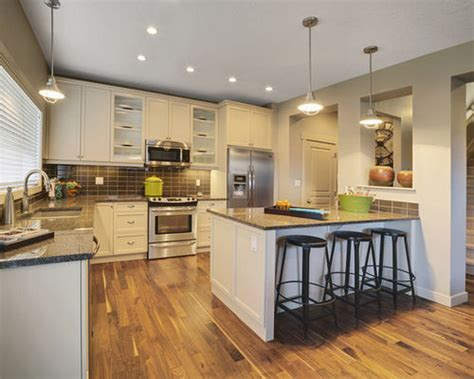 Mobile Kitchen Island Butcher Block island against wall design ideas amp remodel pictures houzz