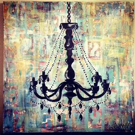 chandelier painting shabby chic chandelier