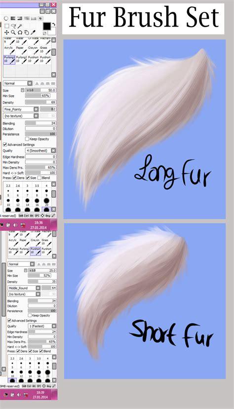paint tool sai hair brush paint tool sai fur brush set by archangelduskanddawn