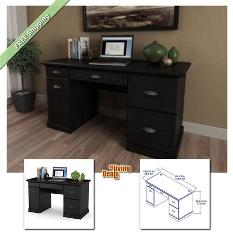 black computer desks for home computer desks for home office with storage table wood