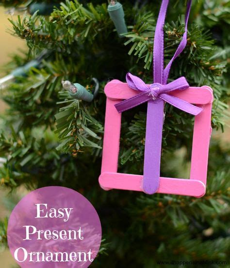 easy present crafts 30 kid friendly handmade ornaments suburble