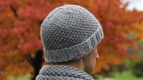 mens knit hat pattern circular needles how to knit s hat tutorial with detailed in