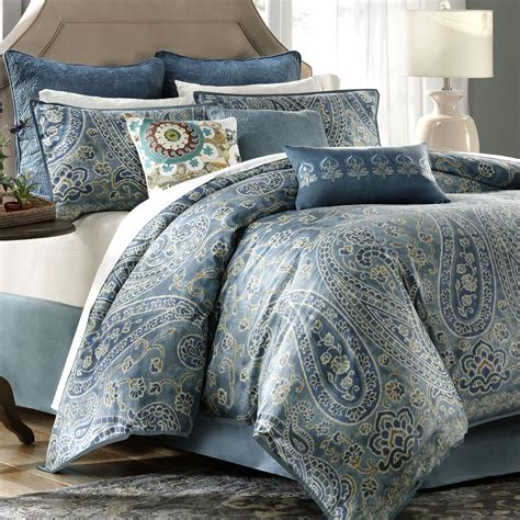paisley king comforter sets blue paisley bedding sets pictures to pin on