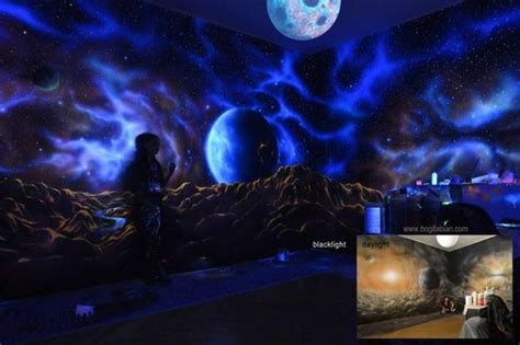 glow in the paint wall glowing wall painting ideas bringing futuristic space