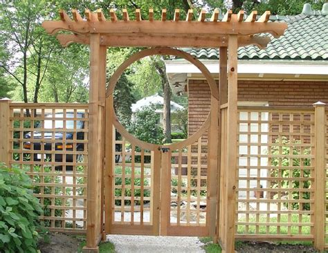 Garden Arbor With Gate Kit Arched Arbors