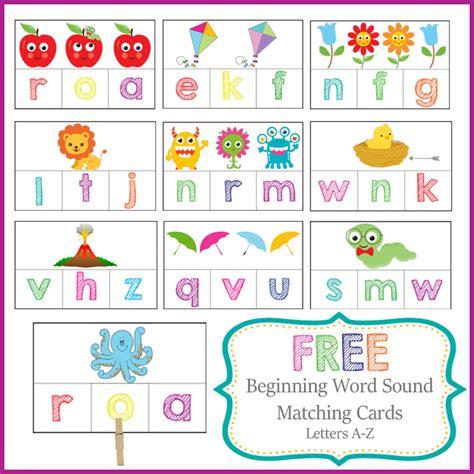 beginning card preschool activities letter sound cards
