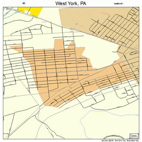 york pa west york pennsylvania map 4284288