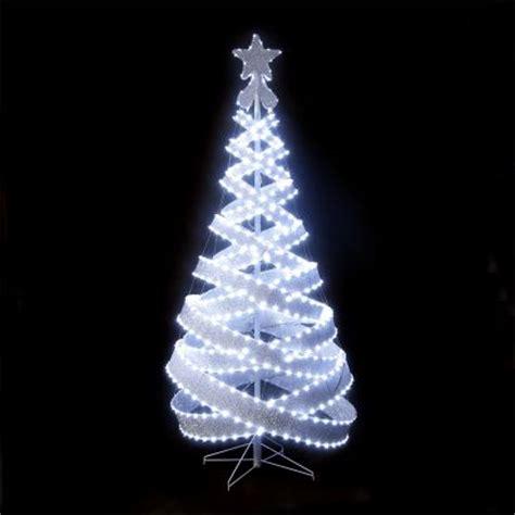 4ft pop up tree 120cm 4ft outdoor indoor silver 456 led spiral pop