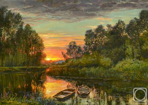 bob ross painting home in the valley закат на рыбалке картины художника панов эдуард