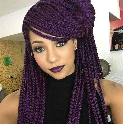 braids with 17 best ideas about purple box braids on