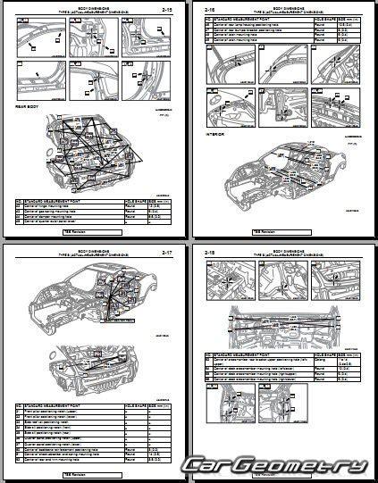 car repair manual download 2011 mitsubishi eclipse instrument cluster контрольные размеры кузова mitsubishi eclipse gt 2006 2012 body repair manual