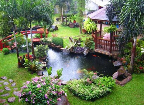 outside garden ideas cool backyard pond garden design ideas amazing
