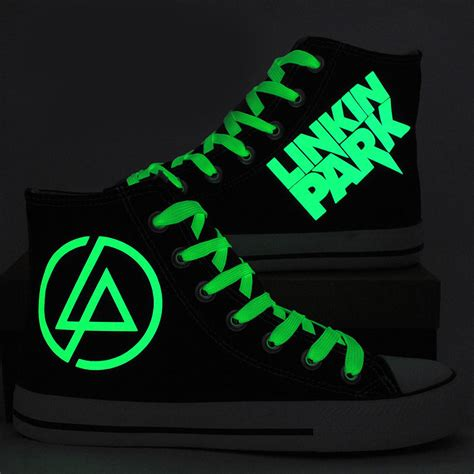glow in the paint on shoes fashion linkin park luminous canvas shoes glow in the