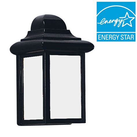 outdoor light fixtures home depot sea gull lighting polycarbonate 1 light white outdoor wall