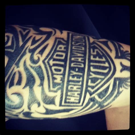 Harley Davidson Tattoos Tribal by 52 Awesome Harley Tattoos