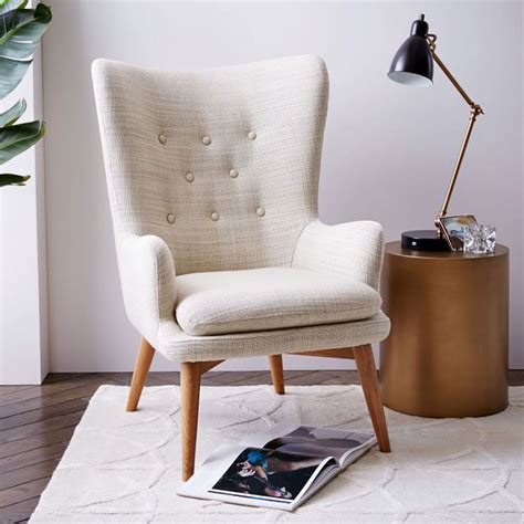 wing chairs for living room 10 chairs to liven up your living room the everygirl