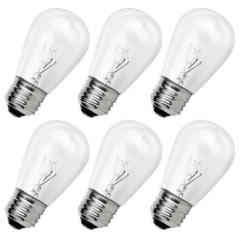 decorative lighting string replacement bulbs newhouse lighting outdoor weatherproof 11 watt s14
