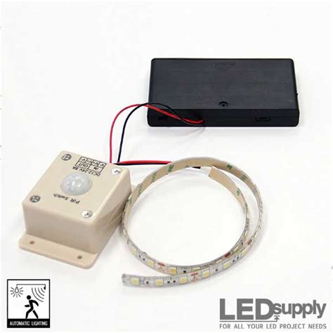 battery led light strips led motion sensor light battery powered