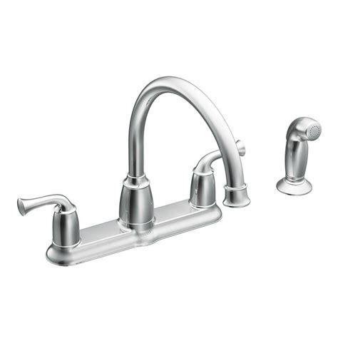 moen kitchen sink sprayer moen banbury 2 handle mid arc standard kitchen faucet with