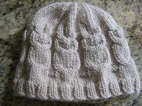 owl hat pattern knit owl hat knitting
