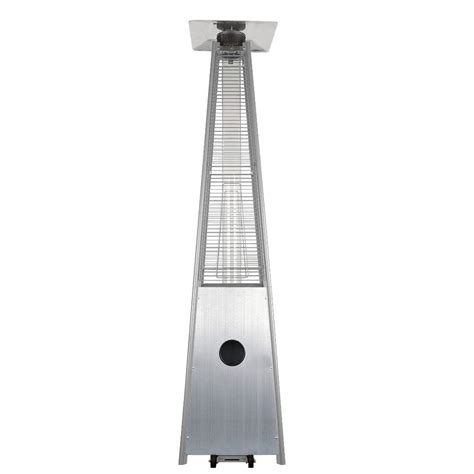 garden radiance patio heater garden radiance 34 000 btu stainless steel pyramid propane
