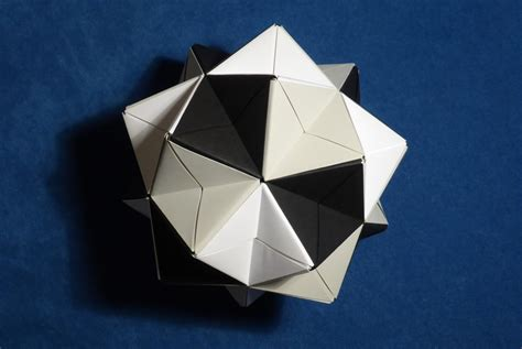 origami spiky modular origami spiky balls and stellated polyhedra