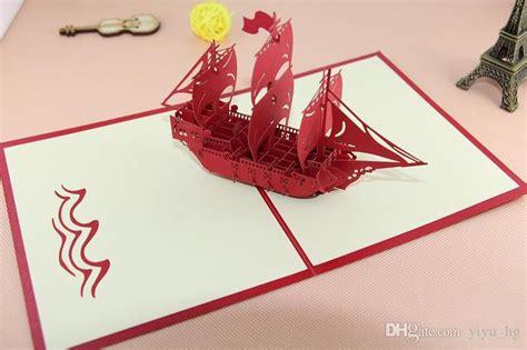 origami birthday present the creative sailing boat handmade kirigami origami 3d