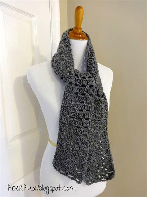 scarf pattern free fiber flux free crochet pattern everybody scarf